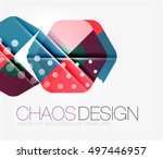 abstract background with round... | Shutterstock .eps vector #497446957