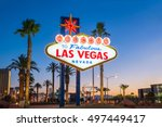the welcome to fabulous las... | Shutterstock . vector #497449417