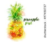 Bright Color Pineapple Fruit...