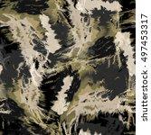 seamless pattern tie dye design.... | Shutterstock . vector #497453317