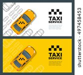 set of vector taxi service... | Shutterstock .eps vector #497458453