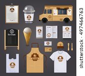 ice cream corporate identity... | Shutterstock .eps vector #497466763