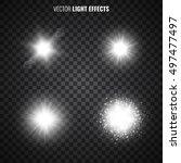 set of light effects on... | Shutterstock .eps vector #497477497