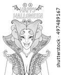 zendoodle design of vampire... | Shutterstock .eps vector #497489167