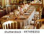 classy chairs stand at the... | Shutterstock . vector #497498353