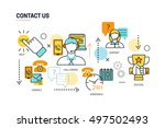 contact us lines composition... | Shutterstock .eps vector #497502493