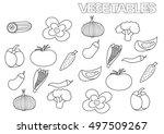 hand drawn vegetables set.... | Shutterstock .eps vector #497509267