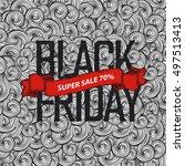 black friday poster   Shutterstock .eps vector #497513413
