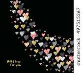 dark corner design with hearts... | Shutterstock .eps vector #497515267
