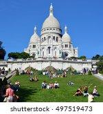 paris france oct 17  the... | Shutterstock . vector #497519473
