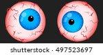 eyeballs scary for halloween.... | Shutterstock .eps vector #497523697