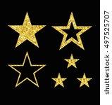 gold luxury fashion shiny star.  | Shutterstock .eps vector #497525707