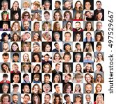 collage of diverse multi ethnic ... | Shutterstock . vector #497529667