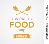 world food day | Shutterstock .eps vector #497533567