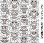 vector  contour  illustration ... | Shutterstock .eps vector #497543293