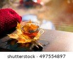 Autumn Still Life  Tea On Mapl...