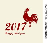 2017 chinese new year of the... | Shutterstock .eps vector #497560393