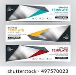 abstract banner design...   Shutterstock .eps vector #497570023