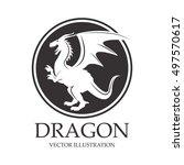 dragon animal cartoon design | Shutterstock .eps vector #497570617