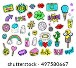 vector hand drawn fashion... | Shutterstock .eps vector #497580667