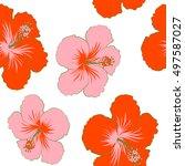 creative universal floral... | Shutterstock . vector #497587027