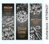 italian food vintage design...   Shutterstock .eps vector #497589637