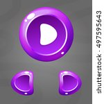 cartoon purple buttons. vector...