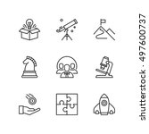 thin line icons set about... | Shutterstock .eps vector #497600737