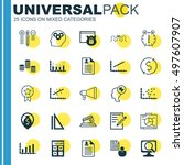 set of 25 universal icons on... | Shutterstock .eps vector #497607907
