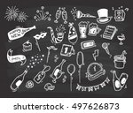 set of new year doodle | Shutterstock .eps vector #497626873