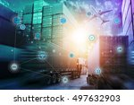 global logistics network... | Shutterstock . vector #497632903