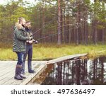 fisherman with a spinning rod...