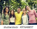 education students people... | Shutterstock . vector #497648857