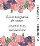 vintage delicate invitation... | Shutterstock . vector #497649067