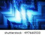 2d illustration business... | Shutterstock . vector #497660533
