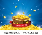 Vector Of Gold Coins Splashing...