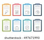 set of infographic elements... | Shutterstock .eps vector #497671993
