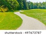 Curved Sidewalk  Path  Trail A...