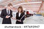 business men and business woman ...   Shutterstock . vector #497693947