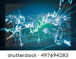 data analyzing in trading... | Shutterstock . vector #497694283