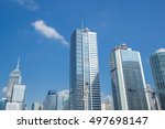 building in hong kong city ... | Shutterstock . vector #497698147