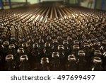glass bottle factory in turkey. | Shutterstock . vector #497699497