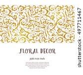 vector golden seamless border...   Shutterstock .eps vector #497711467
