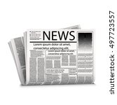 vector mock up newspaper... | Shutterstock .eps vector #497723557
