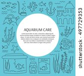 aquarium care. vector square... | Shutterstock .eps vector #497729353