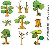 doodle of set tree nature... | Shutterstock .eps vector #497731177