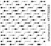 seamless dots pattern. vector... | Shutterstock .eps vector #497750383