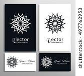 black and white vector... | Shutterstock .eps vector #497762953