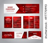 merry christmas banner  flyers  ... | Shutterstock .eps vector #497770993
