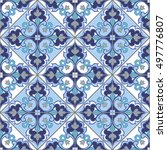 seamless patchwork pattern from ... | Shutterstock .eps vector #497776807